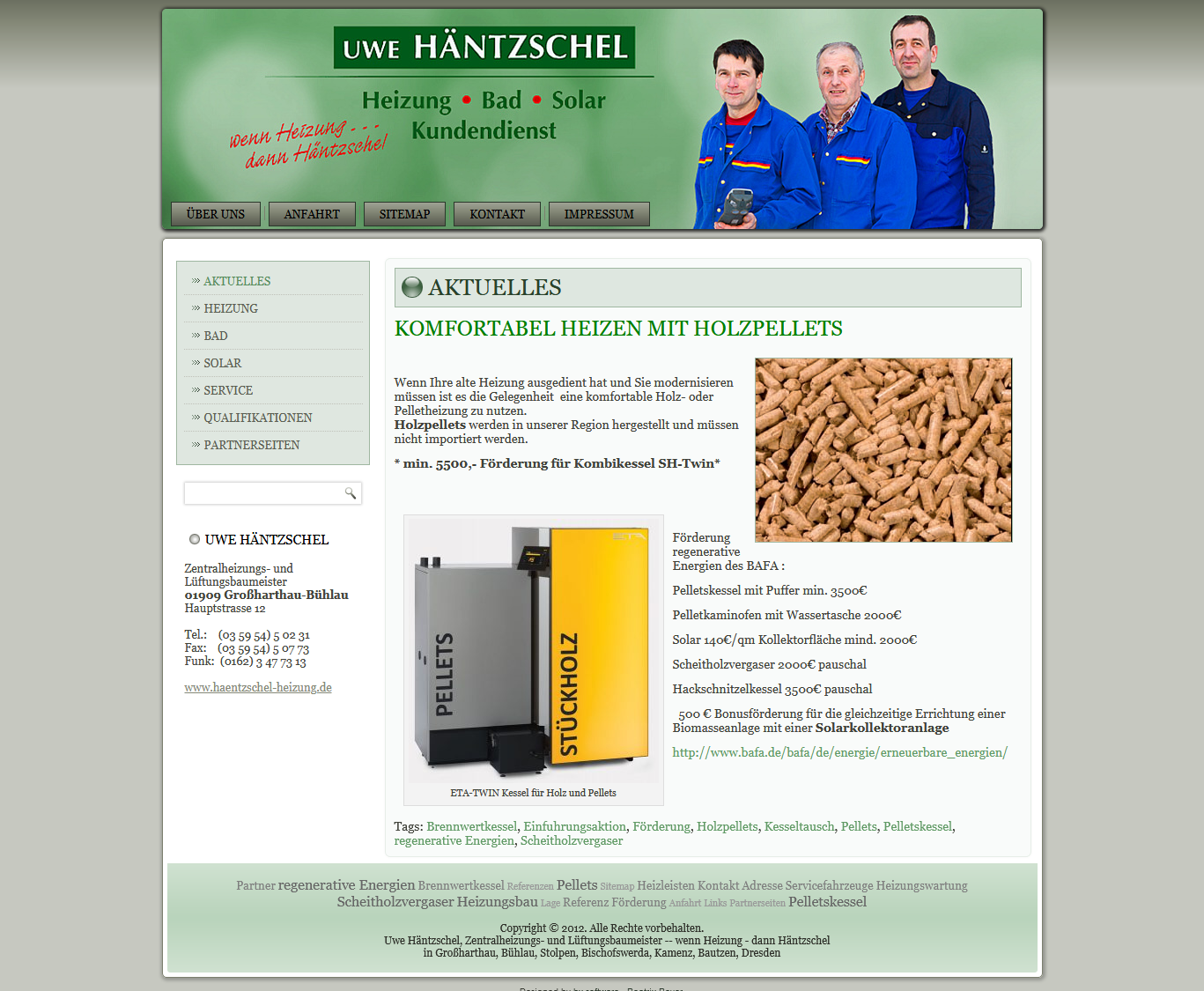Uwe Häntzschel Zentralheizungs und Lüftungsbaumeister in 01909 Großharthau Bühlau Heizung Bad Solar Kundendienst