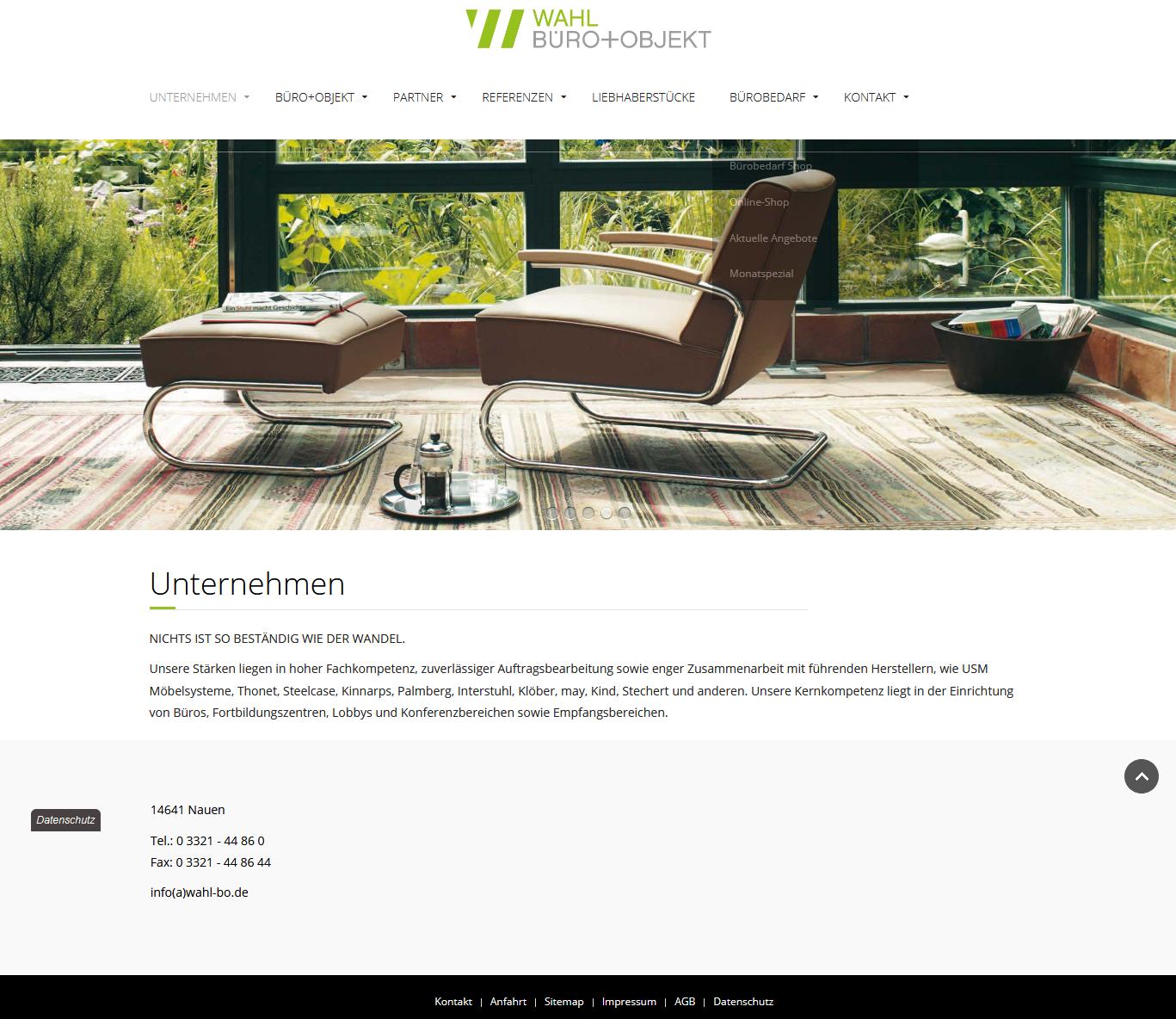 Unternehmen Wahl Büro Objekt GmbH Kreative Objekteinrichtung Büroeinrichtung Büromöbel Innenarchitektur Bürobedarf(1)