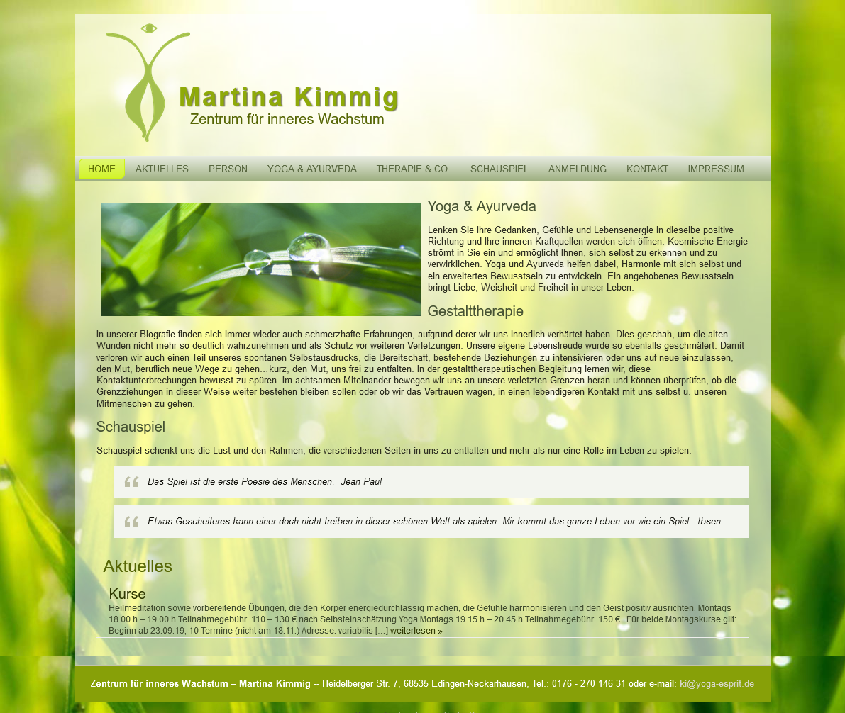 Zentrum für inneres Wachstum Martina Kimmig 68535 Edingen Neckarhausen