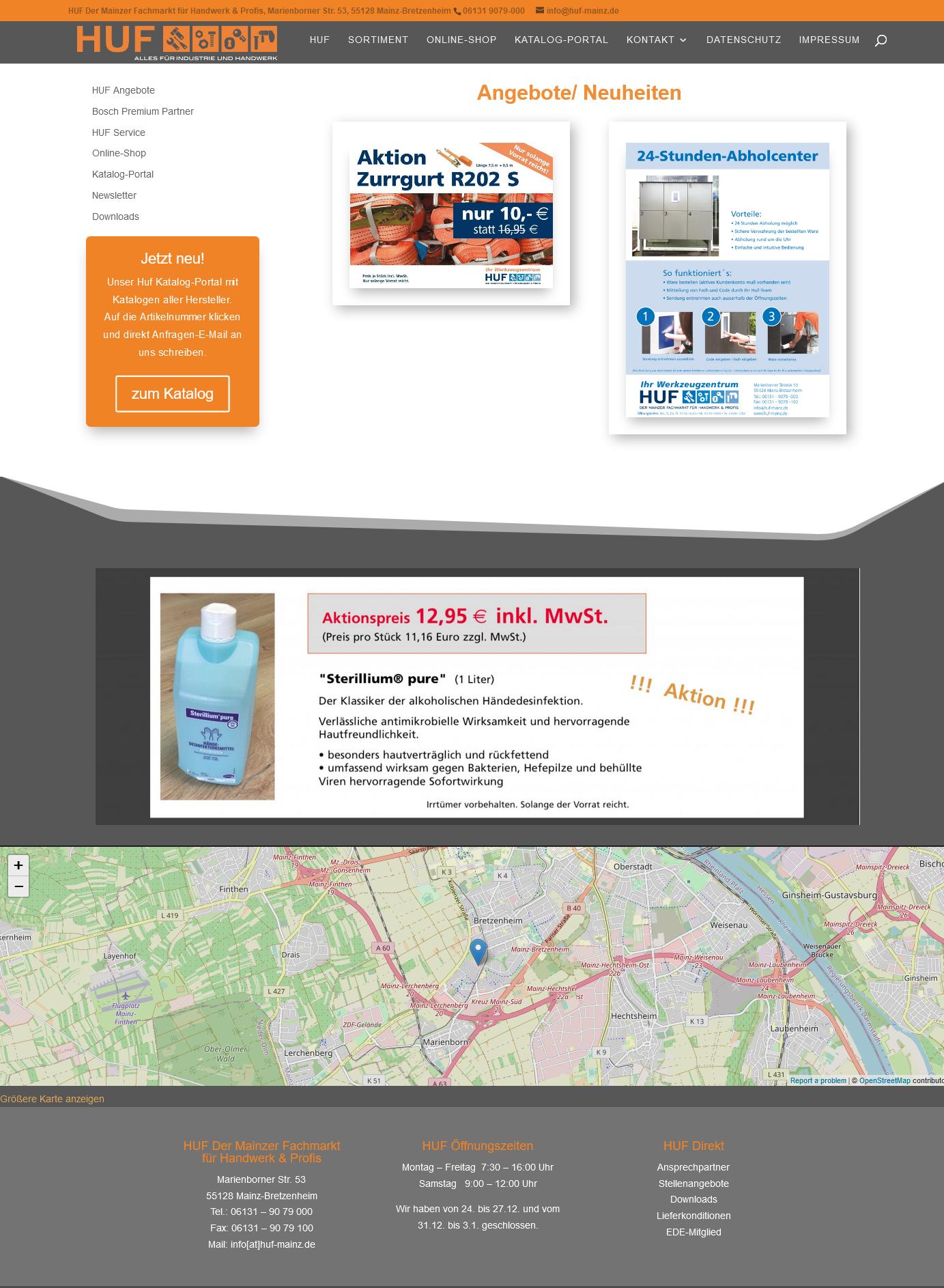 HUF Der Mainzer Fachmarkt für Handwerk Profis