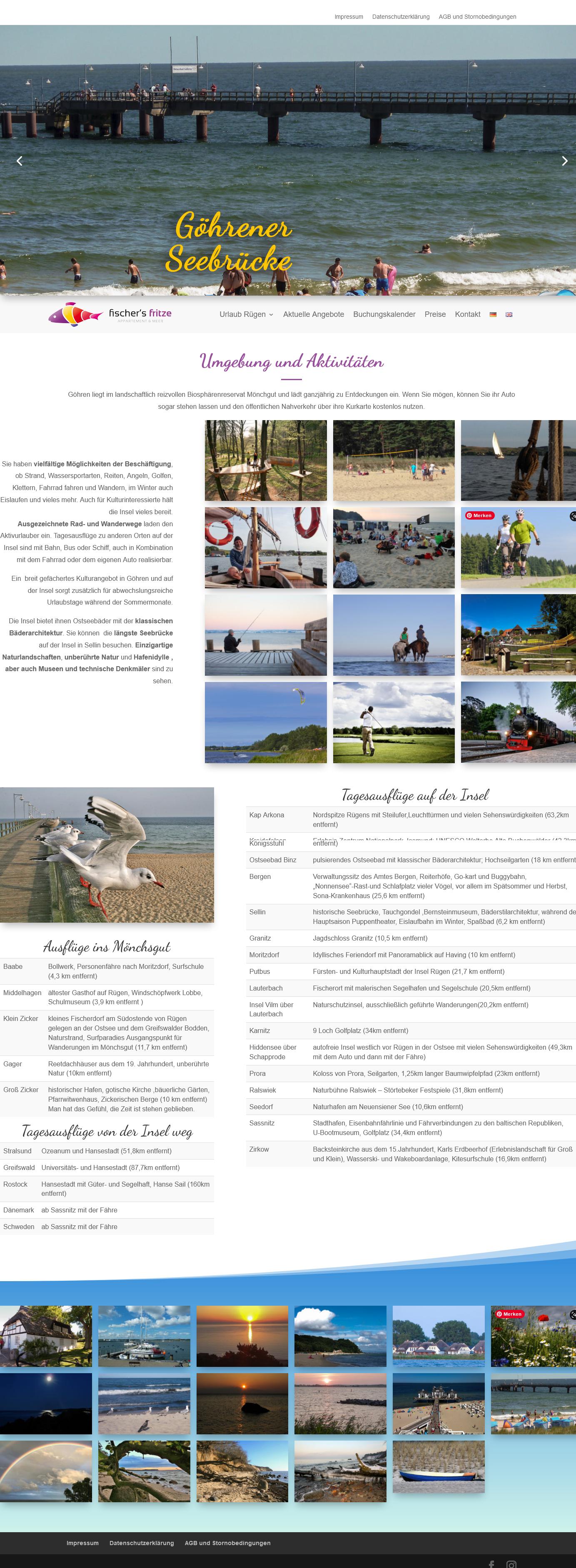Wohlfühl Ferienwohnung Fischersfritze an der Ostsee