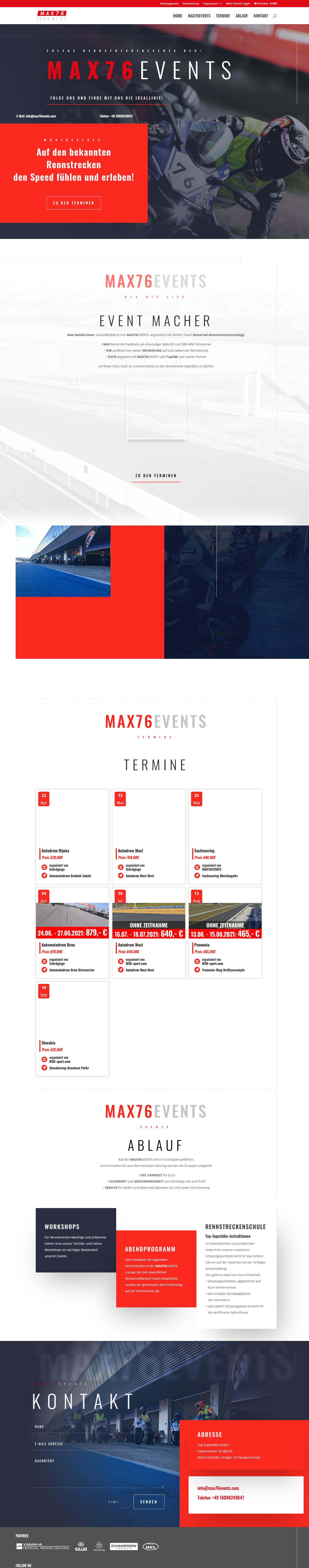max76events Erlebe Rennstreckenevents