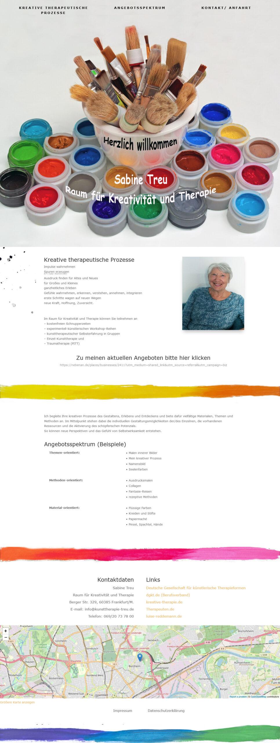 Sabine Treu - Raum für Kreativität und Therapie
